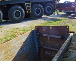 vorbereitete Baugruppe für den Einsatz der Pumpenstation
