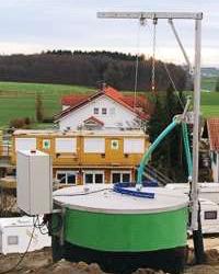 Deponieanlage mit außen montierter Pumpenanlage