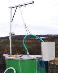 Außenmontierte Pumpanlage für einen Sicherwasserschacht
