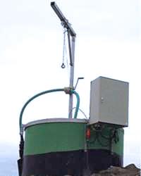 Deponiekonstruktion mit 15-20 Meter Tiefe