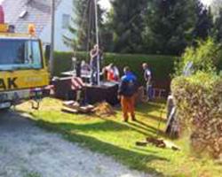 eingepasste Pumpenstation in Baugrbe
