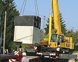 Pumpenstation in Fertigbausweise des Augsburger Pumpenservice