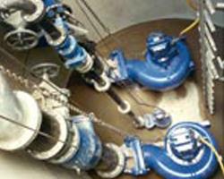 fertig angeschlossene Pumpenstation